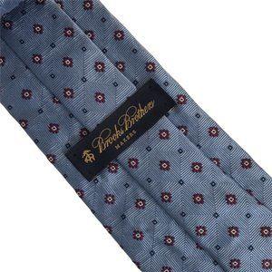 "Brooks Brothers Light Blue Dimond Neat Tie 58.5"""